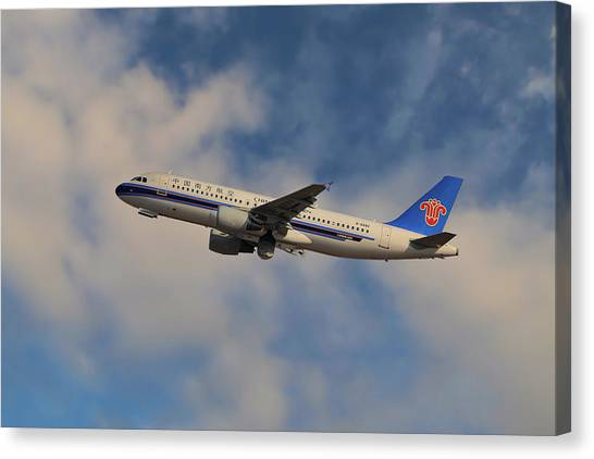 Airlines Canvas Print - China Southern Airlines Airbus A320-214 by Smart Aviation