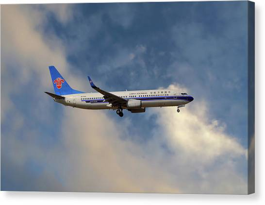 Airlines Canvas Print - China Southern Airlines Boeing 737-81q by Smart Aviation