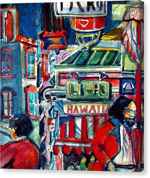 China Town Canvas Print - China Town by Mindy Newman