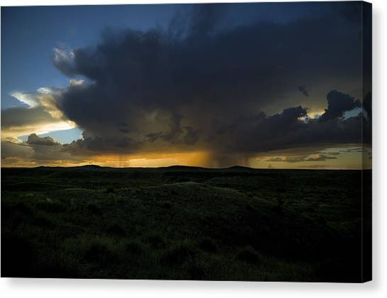 Chinati Storm Canvas Print by Clyde Replogle