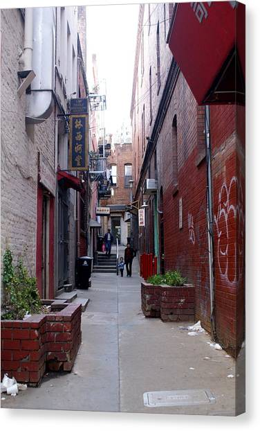 Chinatown Alley Canvas Print by Sonja Anderson