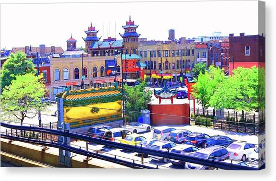 Chinatown Chicago 1 Canvas Print