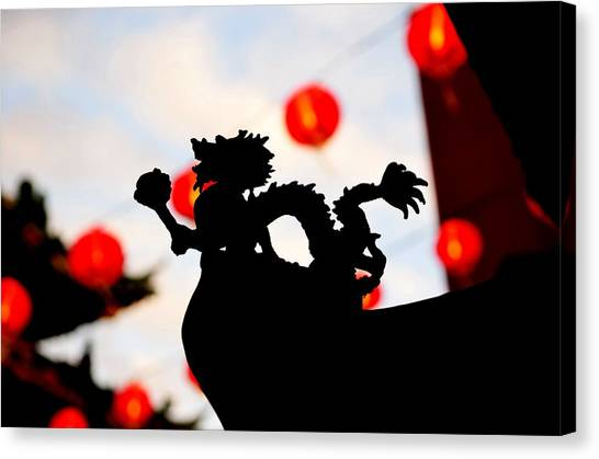 Chinatown Dragon Canvas Print