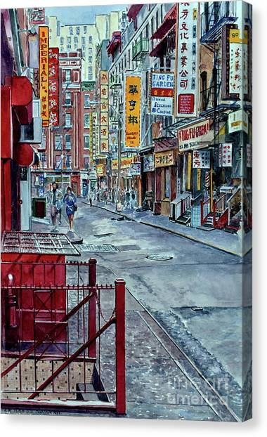 China Town Canvas Print - Chinatown, Nyc by Anthony Butera