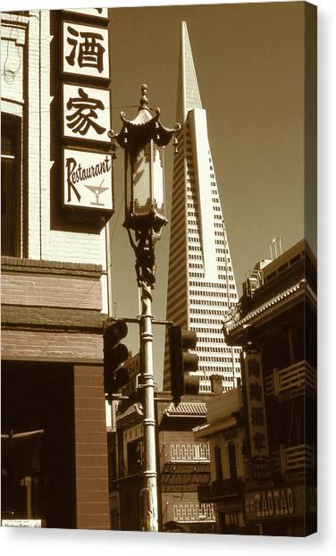 Chinatown San Francisco - Vintage Photo Art Canvas Print