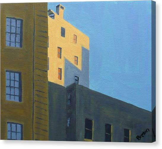 Chinatown Shadows Canvas Print by Laurie Breton