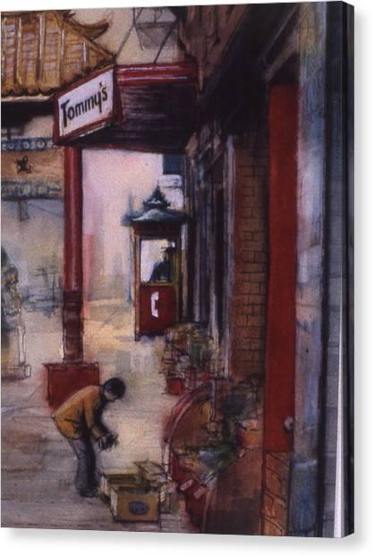 Chinatown Victoria Canvas Print by Victoria Heryet