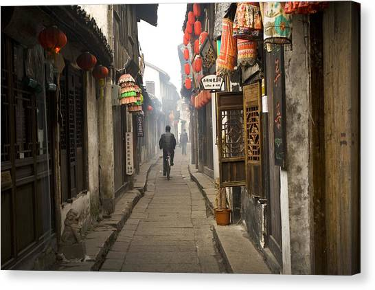 Chinese Alley Canvas Print