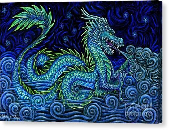 Chinese Azure Dragon Canvas Print