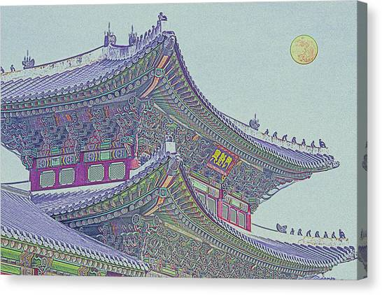 China Town Canvas Print - Chinese Building by Celestial Images