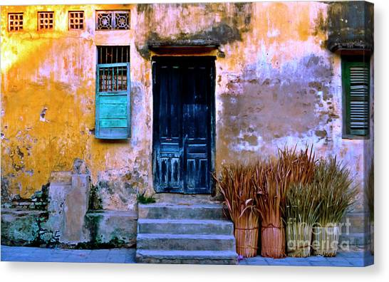 Chinese Facade Of Hoi An In Vietnam Canvas Print