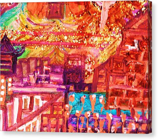 Chinese If You Please New Year Canvas Print by Anne-Elizabeth Whiteway