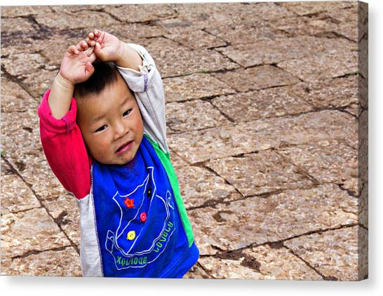 Chinese Boy Joy Canvas Print