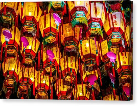 Hong Kong Canvas Print - Chinese Lanterns by Max Serjeant
