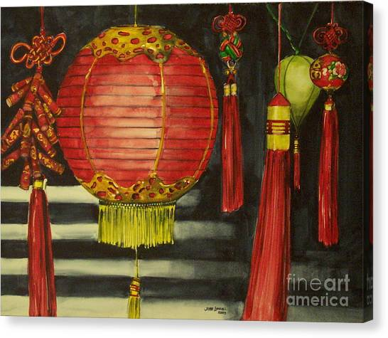 Chinese Lanterns No. 1 Canvas Print