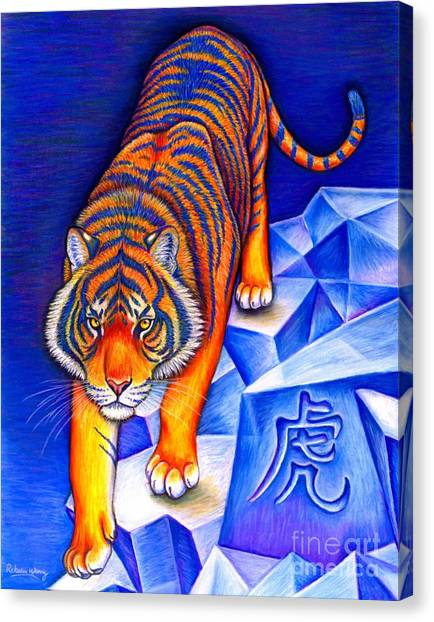 Chinese Zodiac - Year Of The Tiger Canvas Print