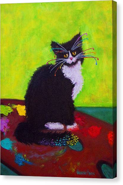 Ching - The Studio Cat Canvas Print by Valerie Aune