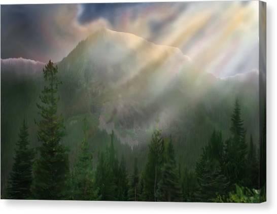 Chinook Vista Canvas Print by Robert Bewick