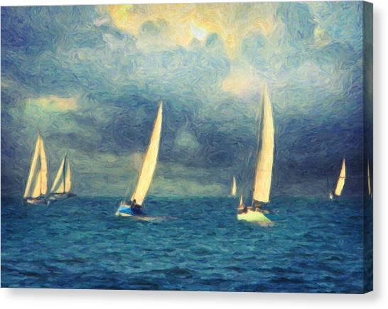 Sailing Canvas Print - Chios by Zapista Zapista