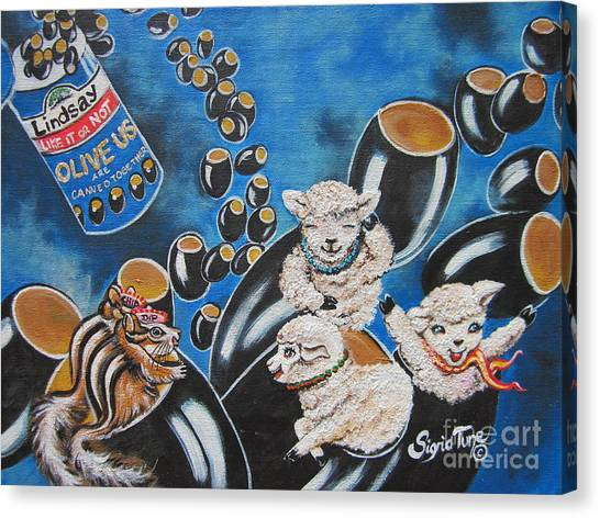 Flygende Lammet  Productions    Like It Or Not  Olive Us On Board  Canvas Print