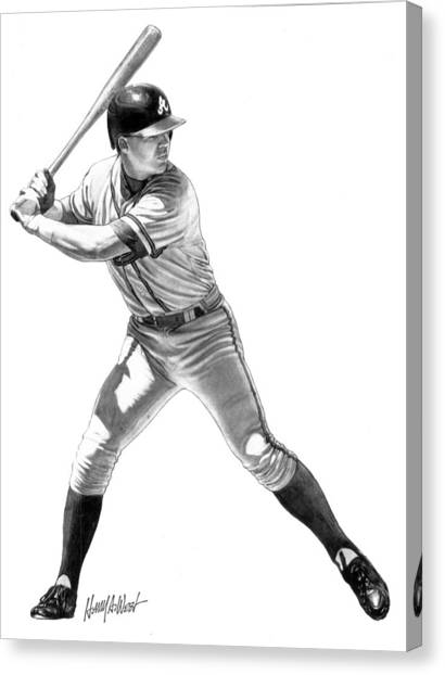 Atlanta Braves Canvas Print - Chipper Jones by Harry West