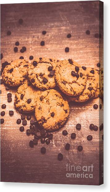 Biscuits Canvas Print - Choc Chip Biscuits by Jorgo Photography - Wall Art Gallery
