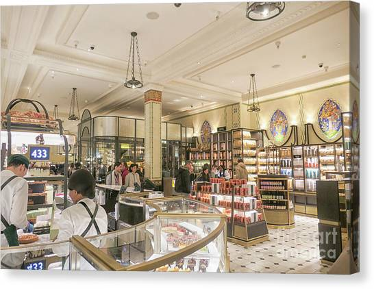 Interior Department Canvas Print   Chocolate Counters At Harrods, London By  Patricia Hofmeester