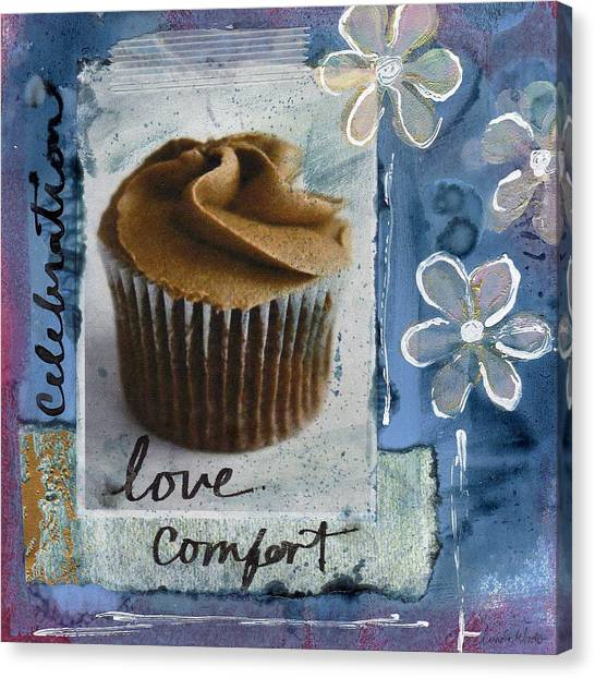 Frosting Canvas Print - Chocolate Cupcake Love by Linda Woods