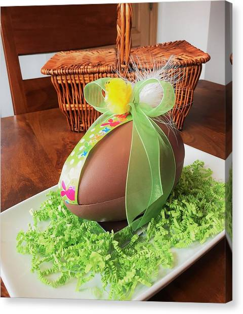 Easter Baskets Canvas Print - Chocolate Easter Egg by Andrea Rea