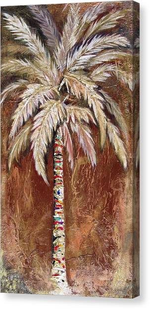 Chocolate Palm Canvas Print