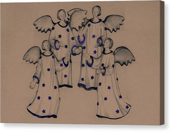 Angel Of Peace Canvas Print - Choir Of Angels by Joy Lions