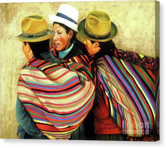 Cholitas Canvas Print - Cholitas by Ekaterina Stoyanova