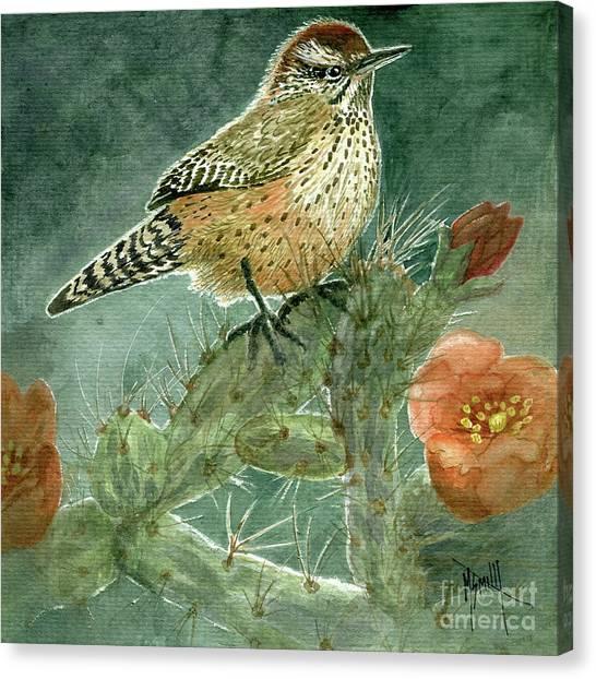 Canvas Print - Cholla Cactus Wren by Marilyn Smith