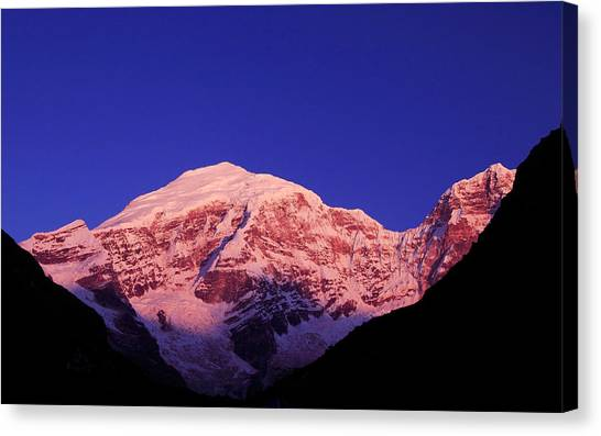 Kangchenjunga Canvas Print - Chomolhari Sunrise by Edmund Hall