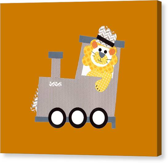 Choo Choo T-shirt Canvas Print