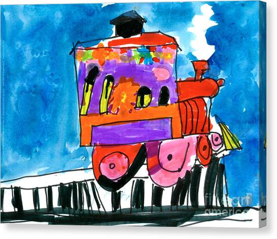 Choochoo Train Canvas Print
