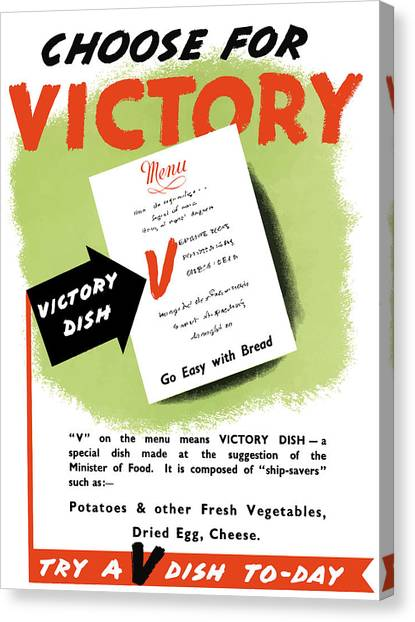 Conservation Canvas Print - Choose For Victory -- Ww2 by War Is Hell Store