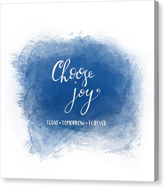 Choose Joy Canvas Print