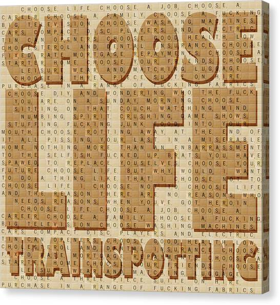 Trainspotting Canvas Print - Choose Life by Gary Hogben