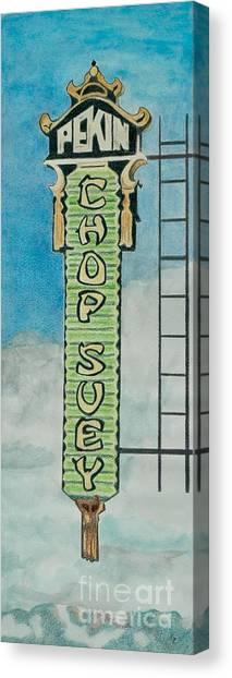 Chinese Restaurant Canvas Print - Chop Suey by Glenda Zuckerman