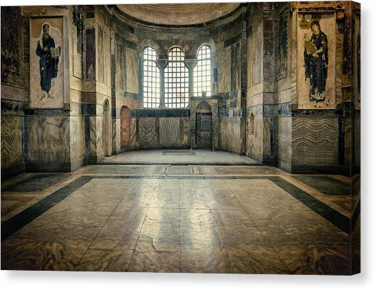Byzantine Art Canvas Print - Chora Nave by Joan Carroll