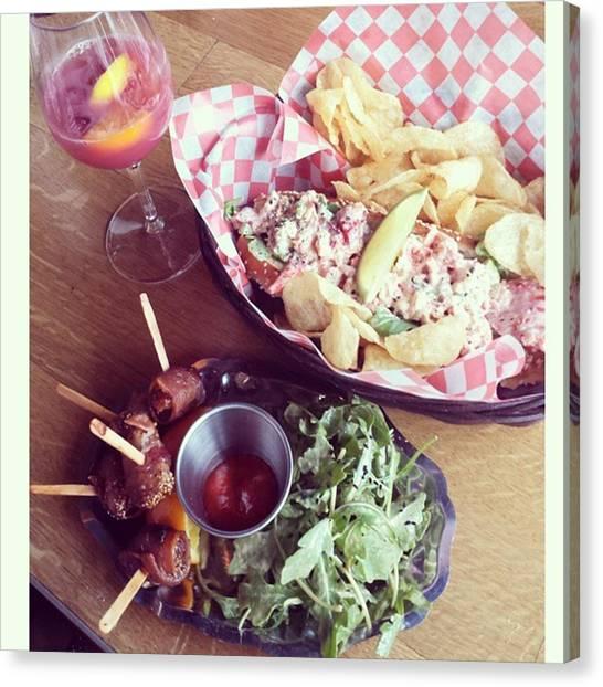 Lobster Canvas Print - #chorizo Stuffed, #bacon Wrapped Figs by Amanda Labadie
