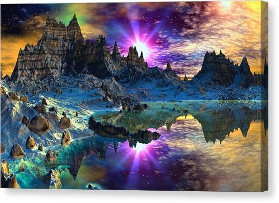 Chosen Hills Sunrise Canvas Print by David Jackson
