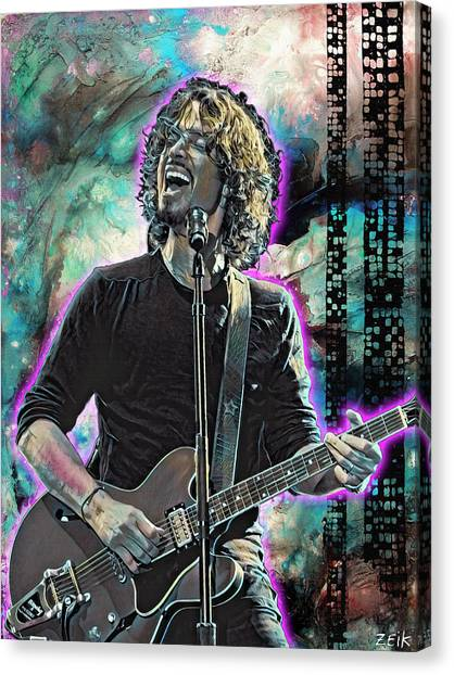 Stone Temple Pilots Canvas Print - Chris Cornell - Outshined by Bobby Zeik