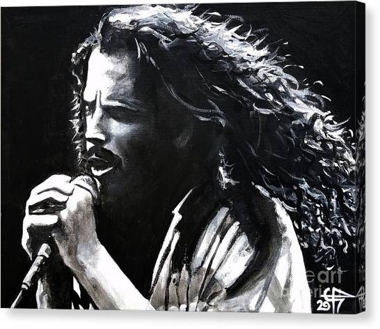Racism Canvas Print - Chris Cornell by Tom Carlton