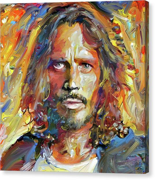 Indoors Canvas Print - Chris Cornell Tribute 2017 Portrait by Yury Malkov