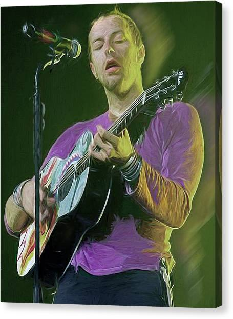 Coldplay Canvas Print - Chris Martin, Coldplay by Mal Bray