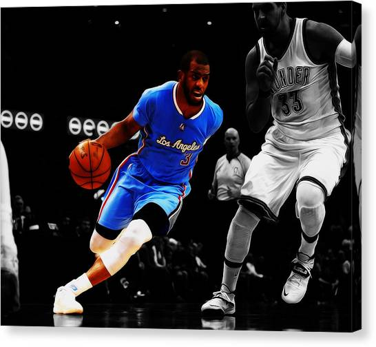 New Orleans Hornets Canvas Print - Chris Paul by Brian Reaves