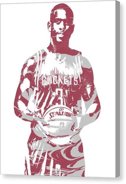 Houston Rockets Canvas Print - Chris Paul Houston Rockets Pixel Art 2 by Joe Hamilton