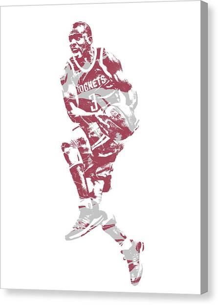 Houston Rockets Canvas Print - Chris Paul Houston Rockets Pixel Art 35 by Joe Hamilton